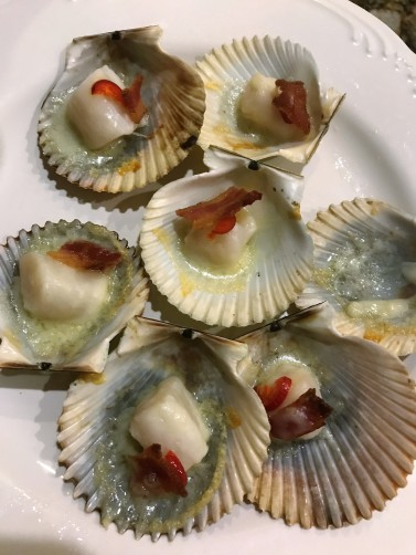 scallops cooked