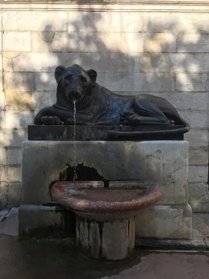 t lion fountain