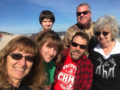 group at beach