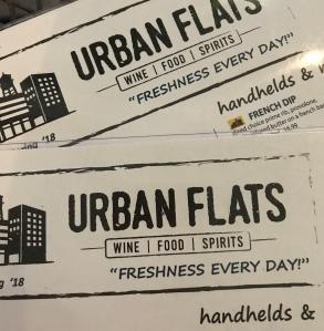urban flats menu